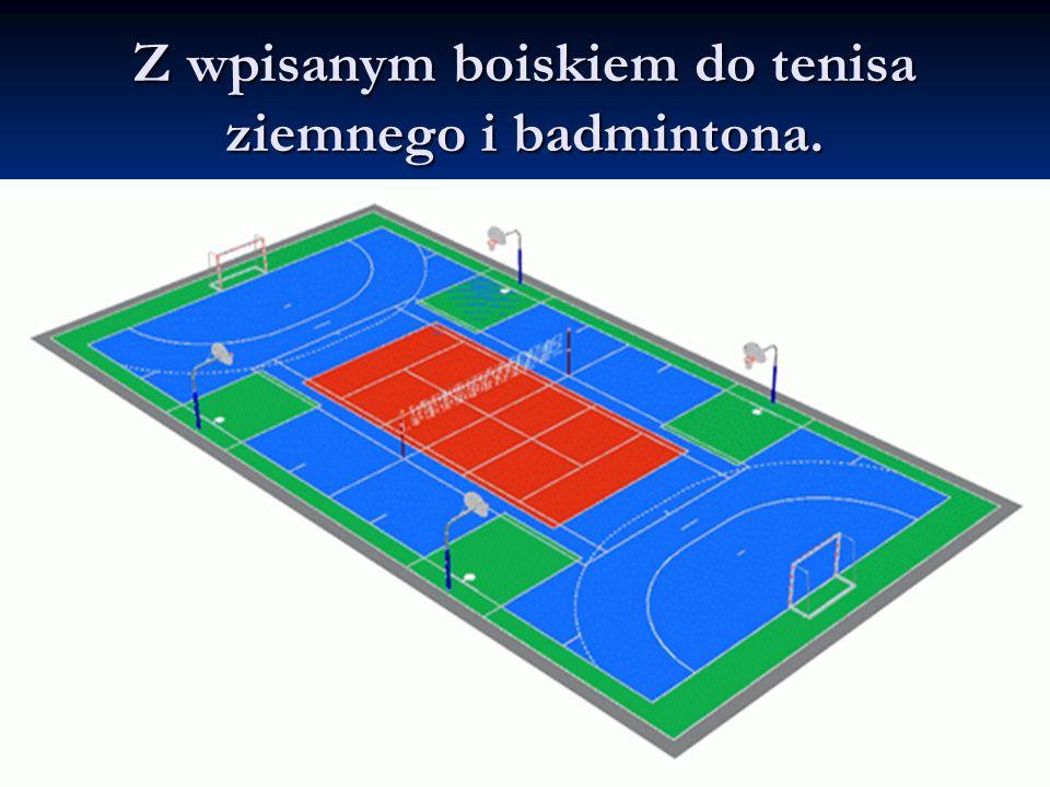 Planowane wymiary boisk Piłka ręczna oraz mini piłka nożna: prostokąt o wymiarach 40 x 20 m.