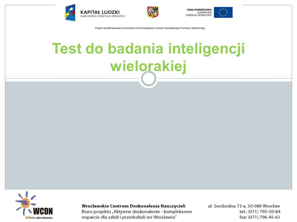 Test do badania inteligencji wielorakiej