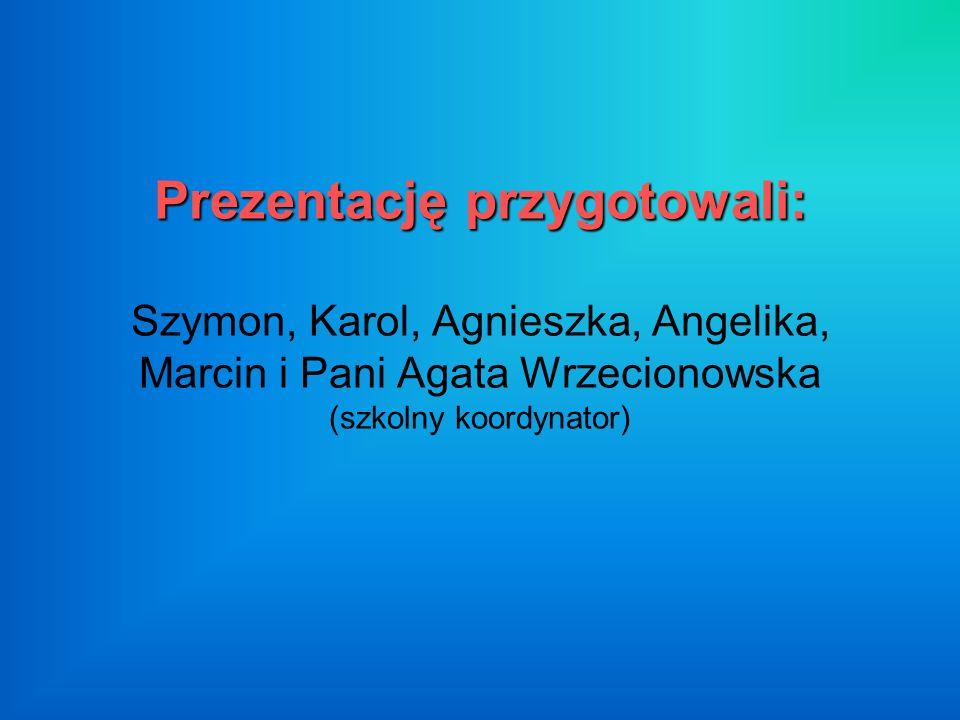 Prezentację przygotowali: Prezentację przygotowali: Szymon, Karol, Agnieszka, Angelika, Marcin i Pani Agata Wrzecionowska (szkolny koordynator)