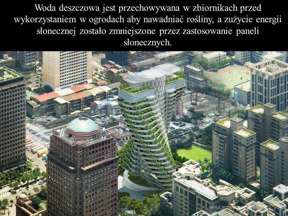 20-piętrowy budynek posiada 40 wysokiej klasy apartamentów, o wymiarach 540 m² każdy, w których nie ma kolumn, podłogi są przezroczyste, są również ró
