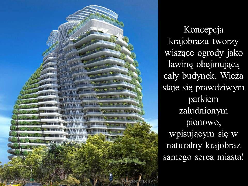 W przeciwieństwie do nowoczesnego miasta zbudowanego z betonu, szkła i stali wieża Agora Garden pojawia się w miejskim centrum jak zielona skręcona gó