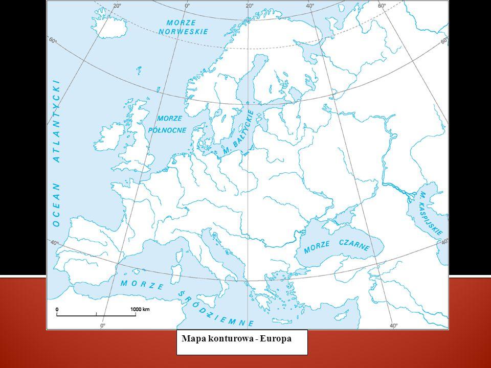Mapa konturowa - Europa