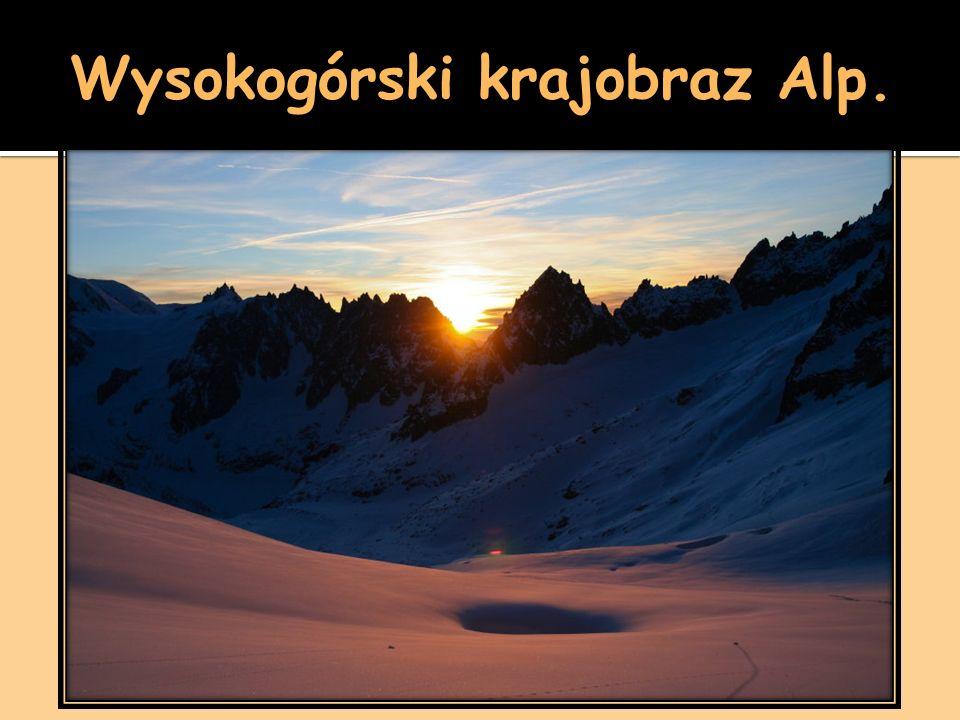 Wysokogórski krajobraz Alp.