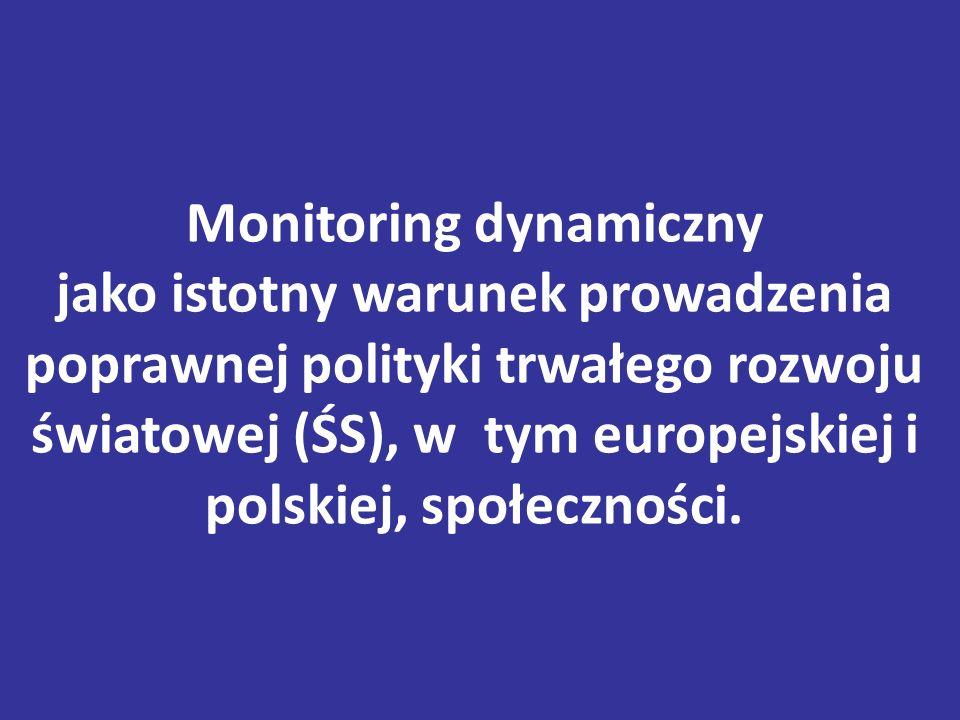 Monitoring dynamiczny jako istotny warunek prowadzenia poprawnej polityki trwałego rozwoju światowej (ŚS), w tym europejskiej i polskiej, społeczności