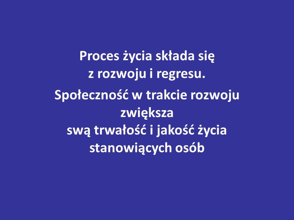 Proces życia składa się z rozwoju i regresu.