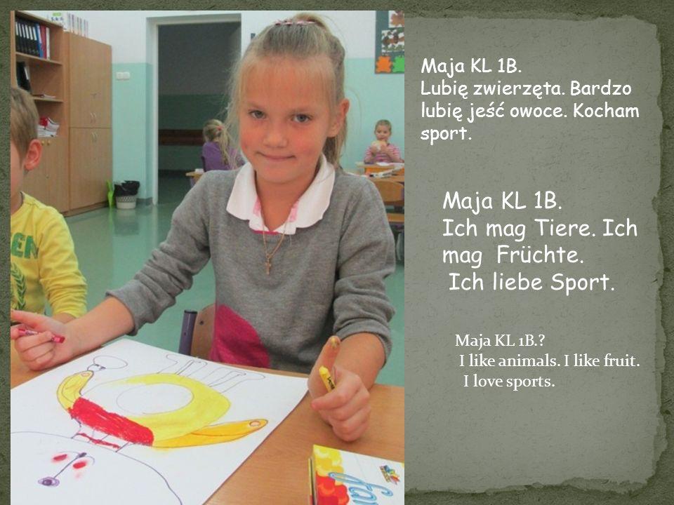 Jestem uczennicą klasy 1b.Mam na imię Ola.Uwielbiam moją młodszą siostrę Zuzię.