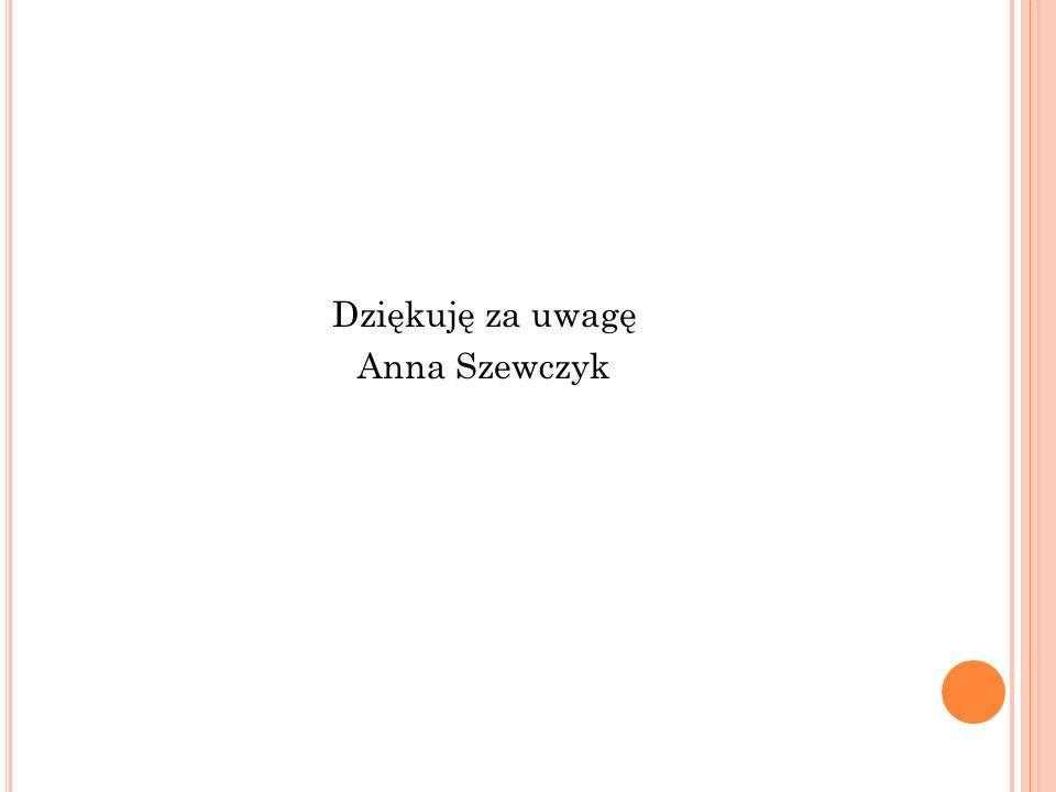 Dziękuję za uwagę Anna Szewczyk