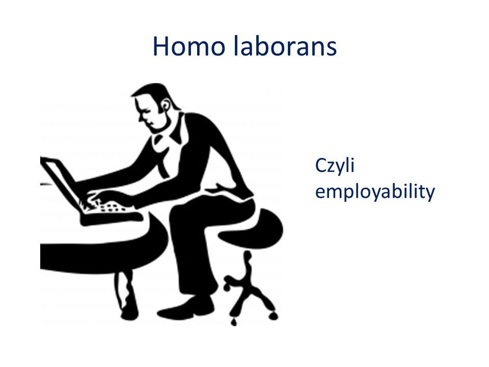 Homo laborans Czyli employability