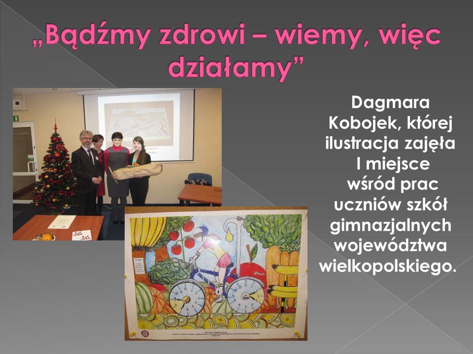 Dagmara Kobojek, której ilustracja zajęła I miejsce wśród prac uczniów szkół gimnazjalnych województwa wielkopolskiego.