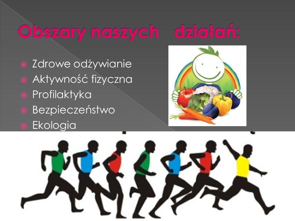  Zdrowe odżywianie  Aktywność fizyczna  Profilaktyka  Bezpieczeństwo  Ekologia