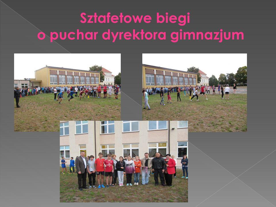 Sztafetowe biegi o puchar dyrektora gimnazjum