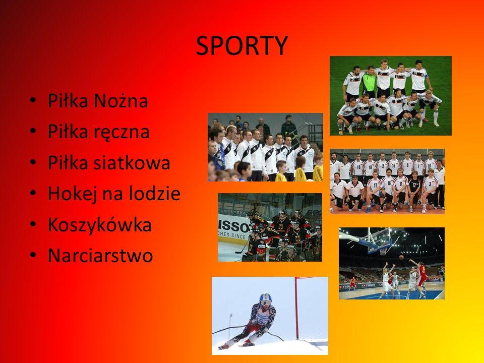 SPORTY Piłka Nożna Piłka ręczna Piłka siatkowa Hokej na lodzie Koszykówka Narciarstwo
