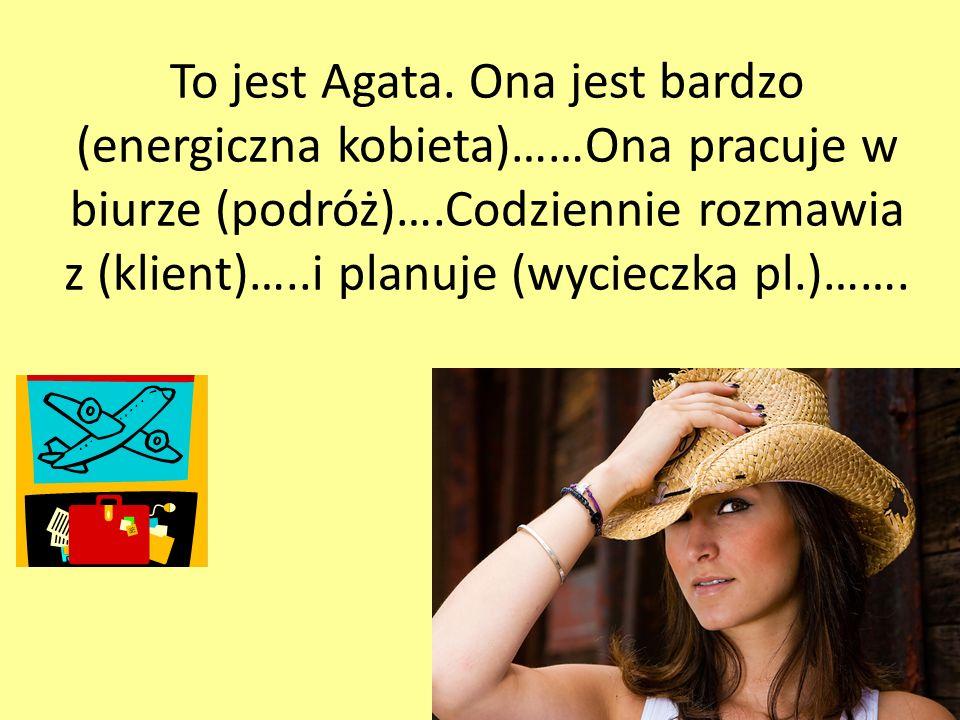 To jest Agata.