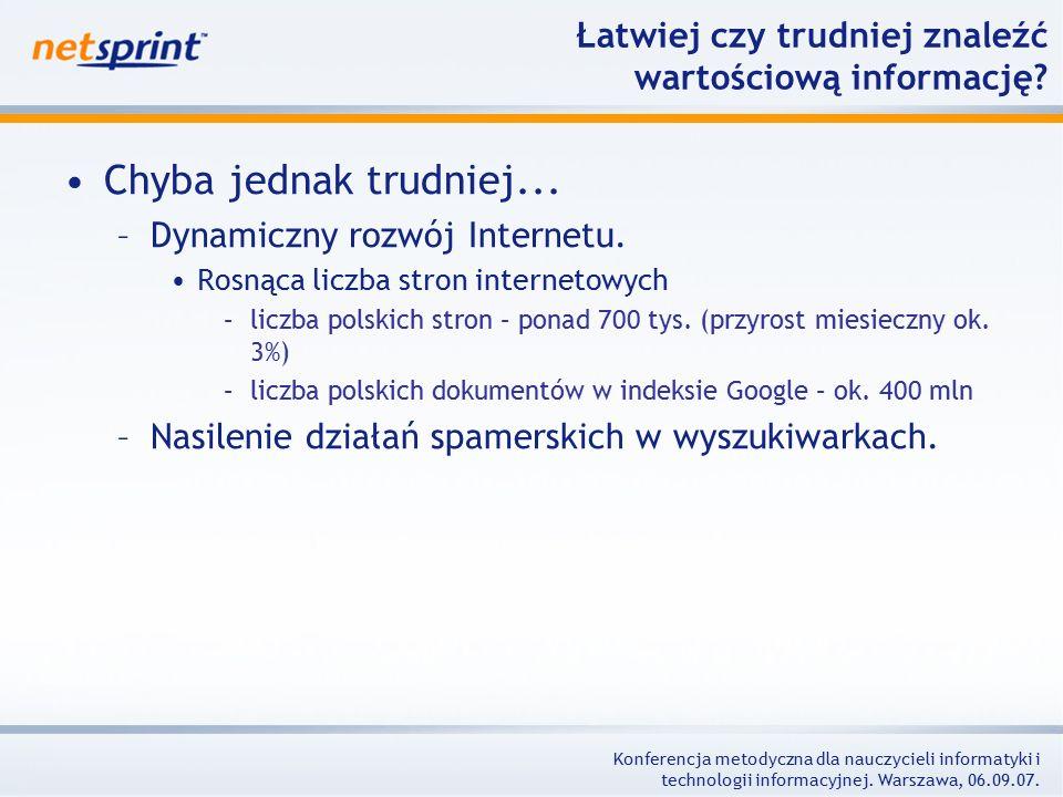 Konferencja metodyczna dla nauczycieli informatyki i technologii informacyjnej.