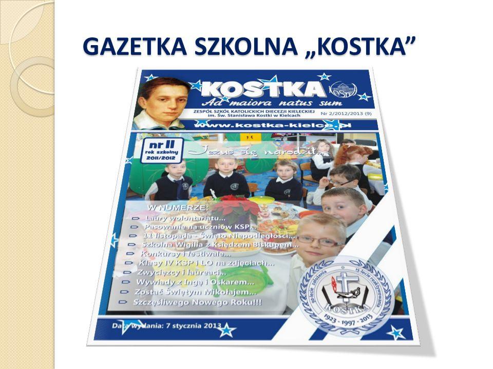 """GAZETKA SZKOLNA """"KOSTKA"""