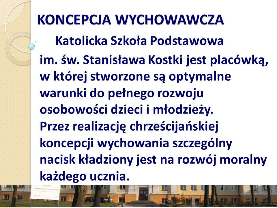 KONCEPCJA WYCHOWAWCZA Katolicka Szkoła Podstawowa im.