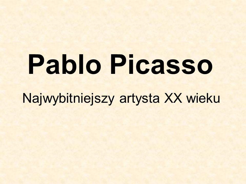 RZEŹBA Twórczość rzeźbiarska nie jest tak regularna jak praca malarska Picassa.