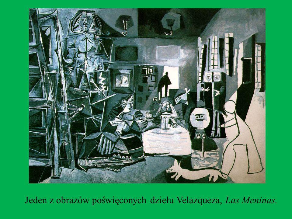 OKRES CANNES Od 1955 roku Picasso przebywał w Cannes i Mougins. Jego dzieła w tym czasie stanowiły naturalne rozwinięcie tendencji poprzedniego okresu