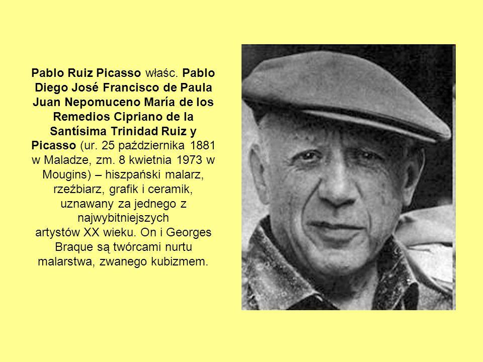 TECHNIKA Jeśli chodzi o wybór techniki, Picasso poszedł tradycyjną drogą: wybrał glinę i gips.