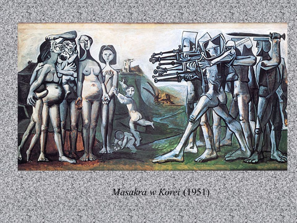 OKRES ANTIBES Twórczość Picassa z lat 1945-54 jest bardzo różnorodna: miasteczku Vallauris na południu Francji rozwijał swą twórczość ceramiczną, w An
