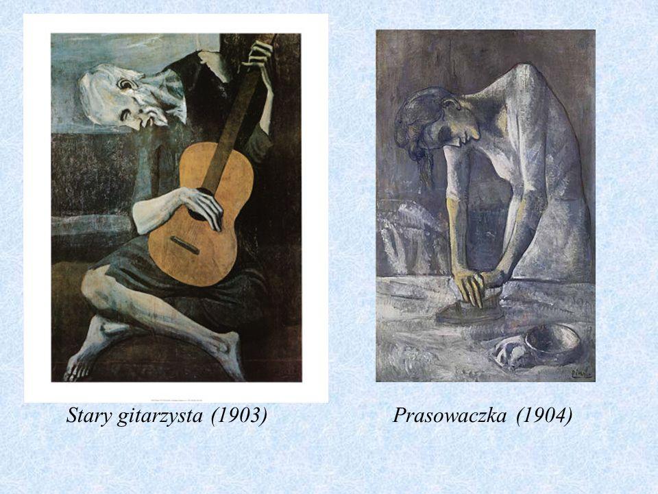 OKRES BŁĘKITNY: Okres błękitny, powstały w 1901 roku, zapoczątkował indywidualną twórczość Picassa. Cechował się figuralnymi i ekspresyjnymi scenami,
