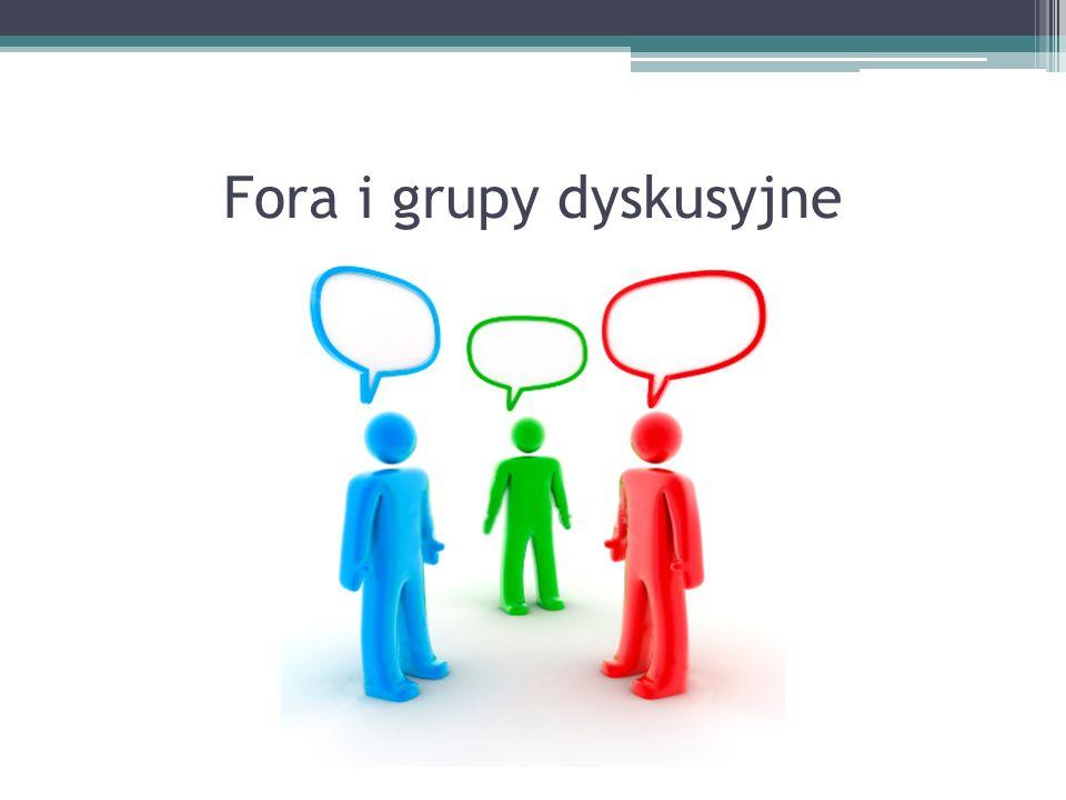 Fora i grupy dyskusyjne