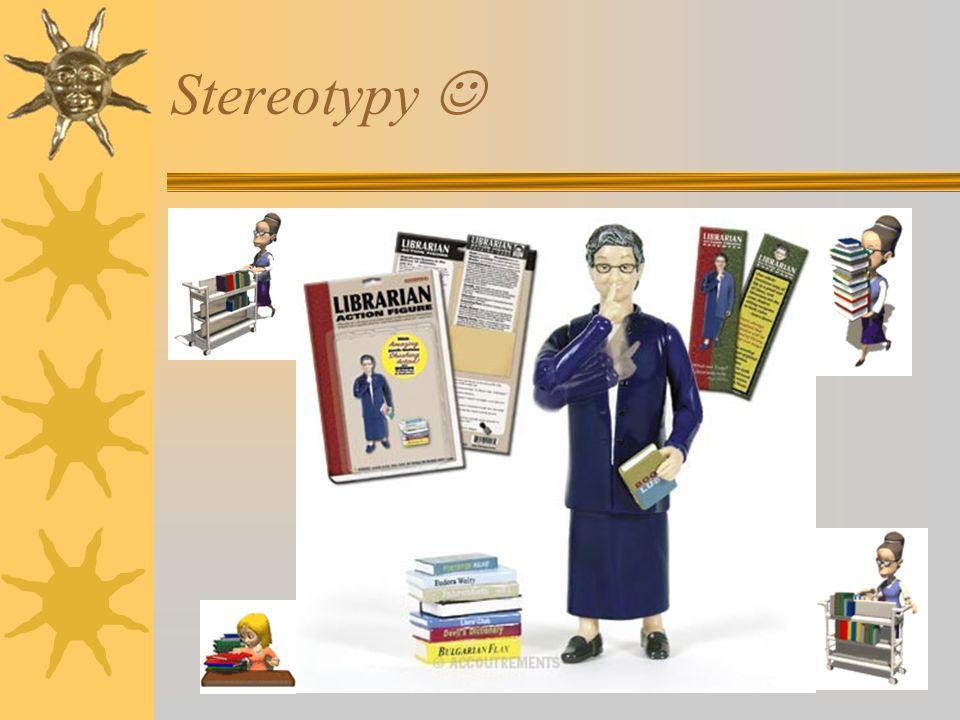 Czytelnicy oporni i biblioteka – stereotypy: Stereotypy bibliotekarza wśród młodzieży:  Ćśśśśś - Obsesjonaci ciszy;  Nudziarze;  nie znają się na k