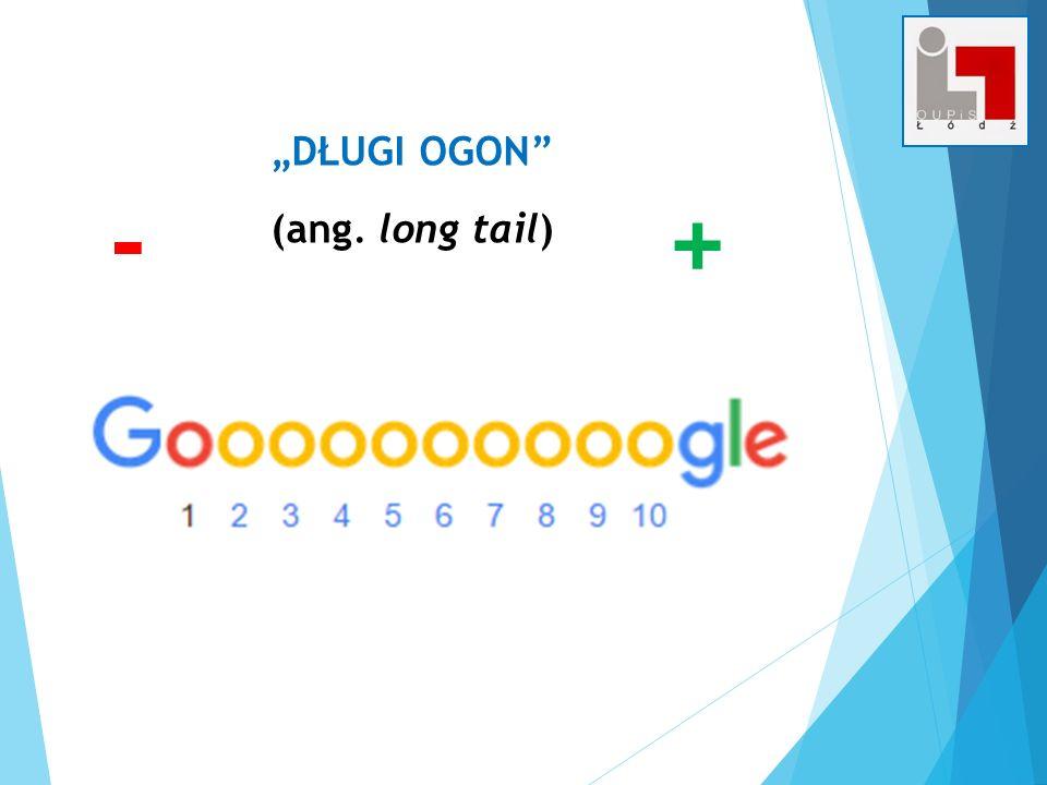 """DŁUGI OGON (ang. long tail) + -"