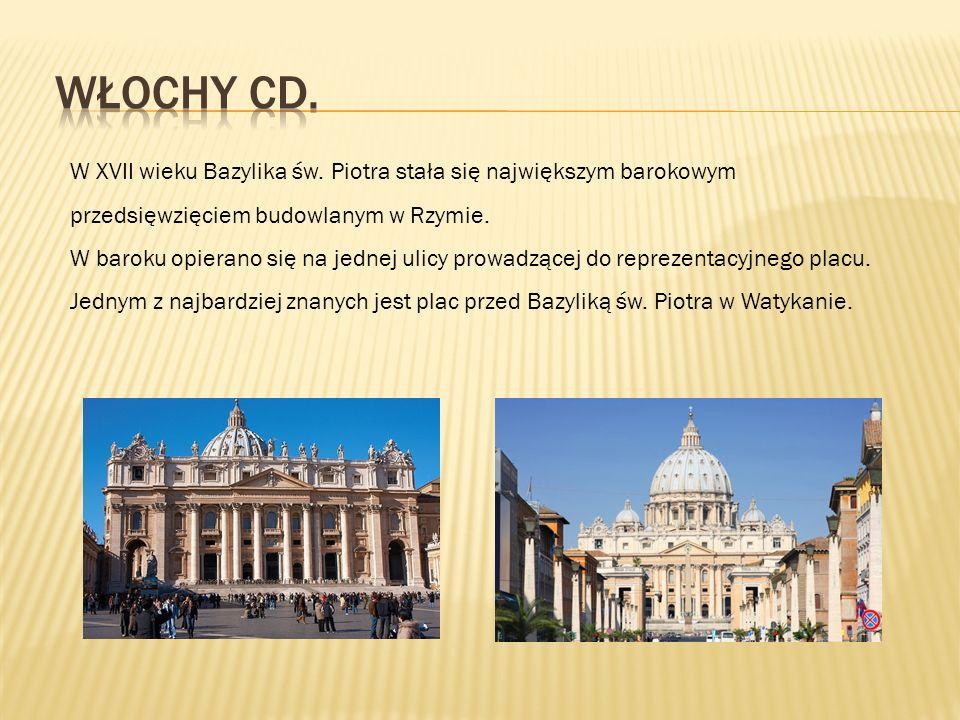W XVII wieku Bazylika św. Piotra stała się największym barokowym przedsięwzięciem budowlanym w Rzymie. W baroku opierano się na jednej ulicy prowadząc