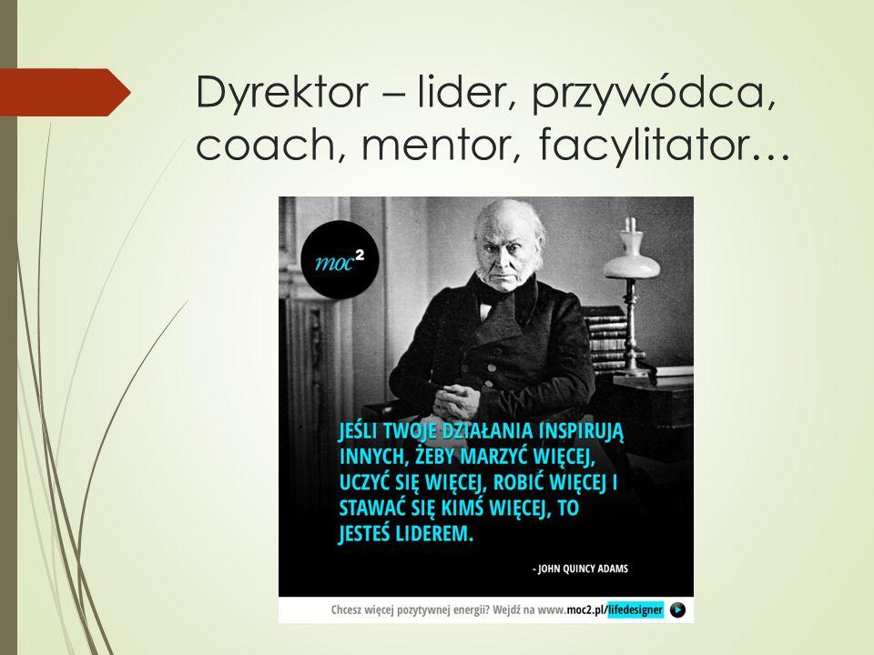 Dyrektor – lider, przywódca, coach, mentor, facylitator…