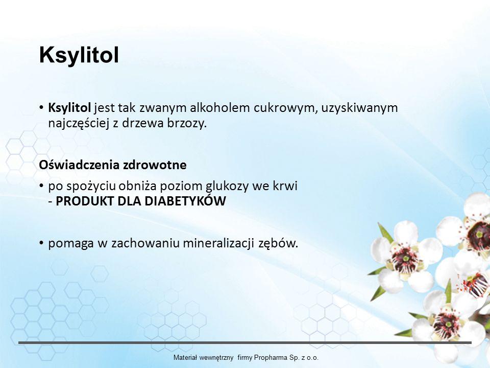Ksylitol Ksylitol jest tak zwanym alkoholem cukrowym, uzyskiwanym najczęściej z drzewa brzozy.