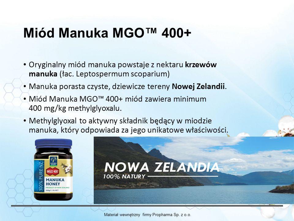 Miód Manuka MGO™ 400+ Oryginalny miód manuka powstaje z nektaru krzewów manuka (łac.