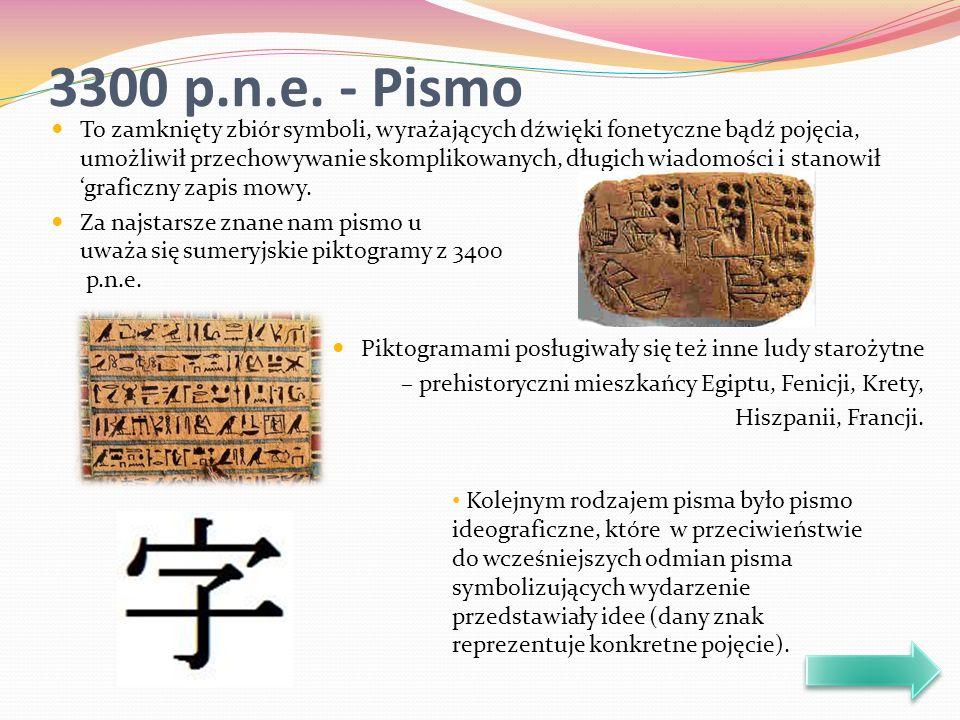Pisma starożytnych Egipcjan, Kreteńczyków, Hetytów czy mieszkańców Mezopotamii zbudowane były z symboli, połączonych w różne kombinacje.