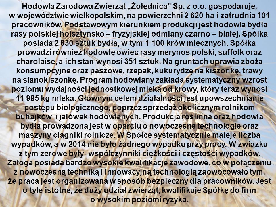 """Hodowla Zarodowa Zwierząt """"Żołędnica Sp. z o.o."""