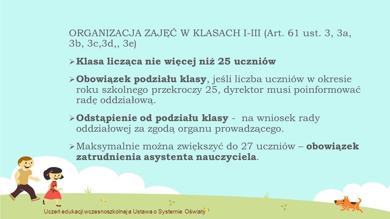 OPIEKA ŚWIETLICOWA (Art.67 ust.
