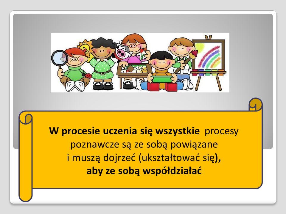 W procesie uczenia się wszystkie procesy poznawcze są ze sobą powiązane i muszą dojrzeć (ukształtować się), aby ze sobą współdziałać