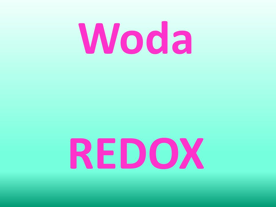 Woda REDOX