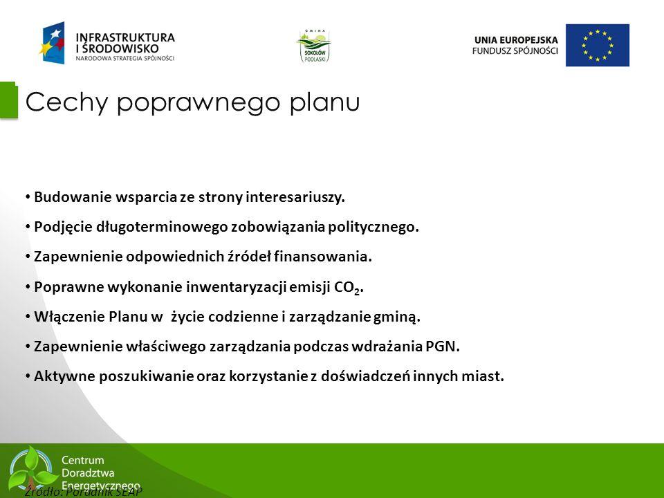30 Cechy poprawnego planu Budowanie wsparcia ze strony interesariuszy. Podjęcie długoterminowego zobowiązania politycznego. Zapewnienie odpowiednich ź