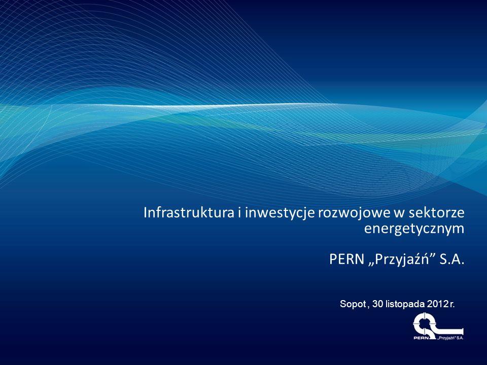 """Infrastruktura i inwestycje rozwojowe w sektorze energetycznym PERN """"Przyjaźń"""" S.A. Sopot, 30 listopada 2012 r."""