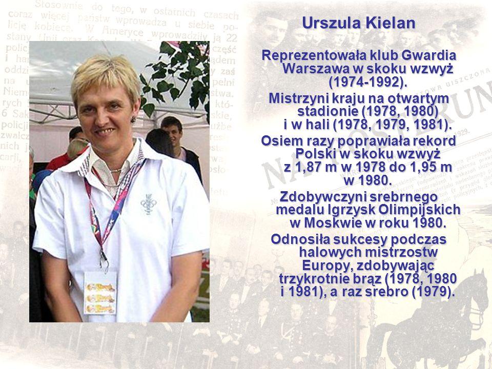 Urszula Kielan Reprezentowała klub Gwardia Warszawa w skoku wzwyż (1974-1992). Mistrzyni kraju na otwartym stadionie (1978, 1980) i w hali (1978, 1979