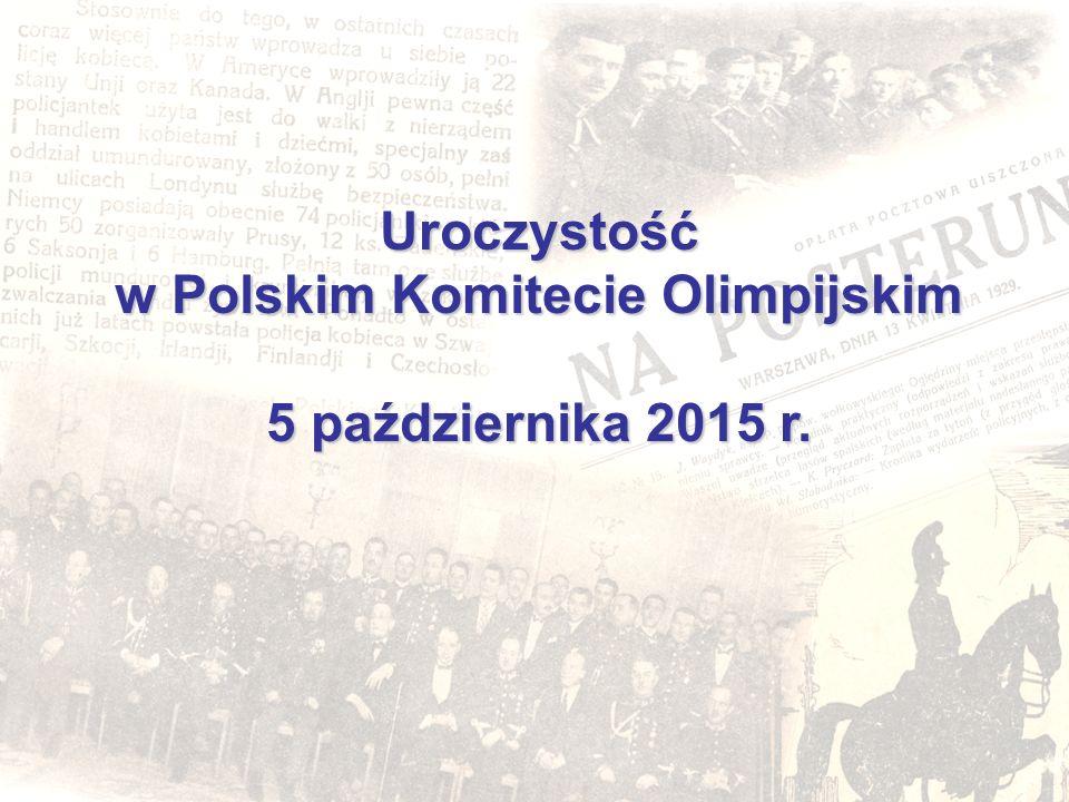 Uroczystość w Polskim Komitecie Olimpijskim 5 października 2015 r.