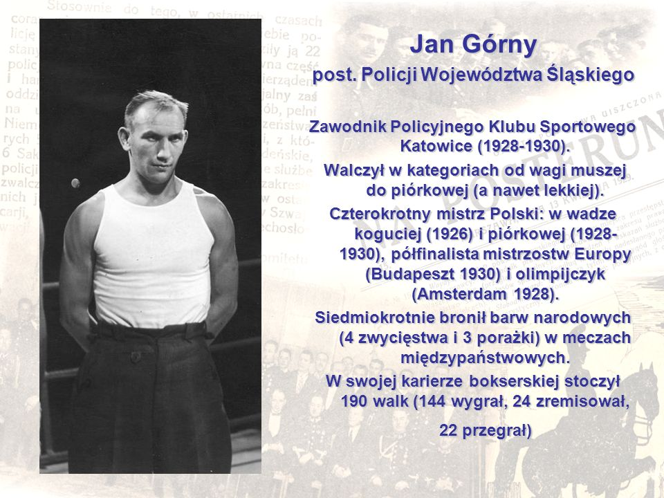 Jan Górny post.