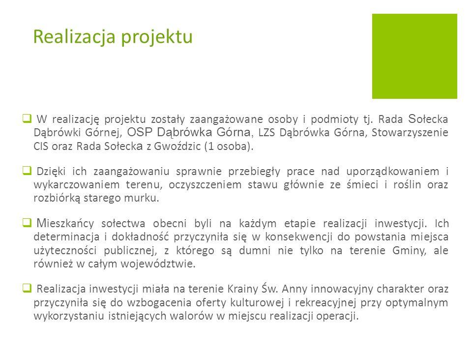  W realizację projektu zostały zaangażowane osoby i podmioty tj.