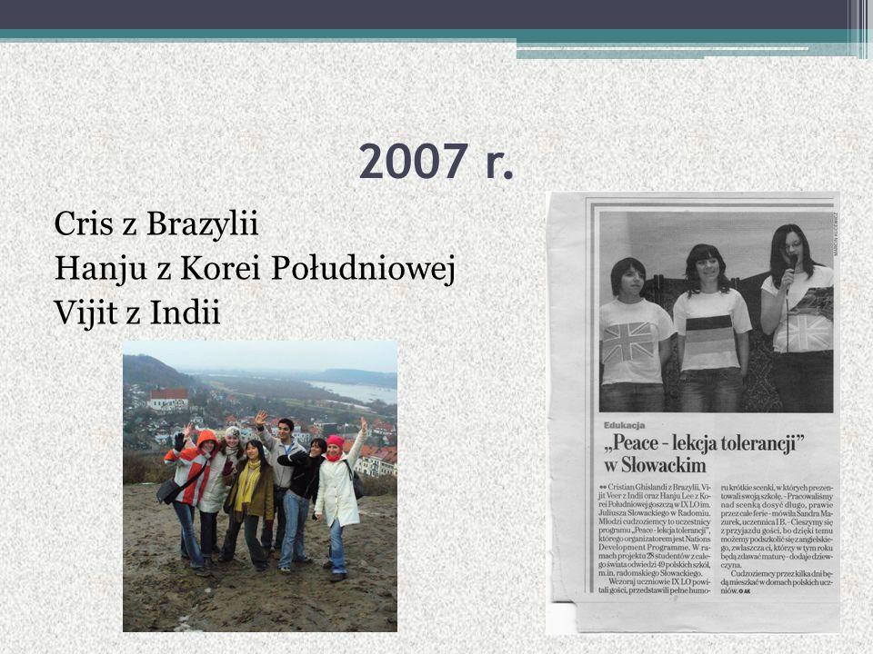 2007 r. Cris z Brazylii Hanju z Korei Południowej Vijit z Indii