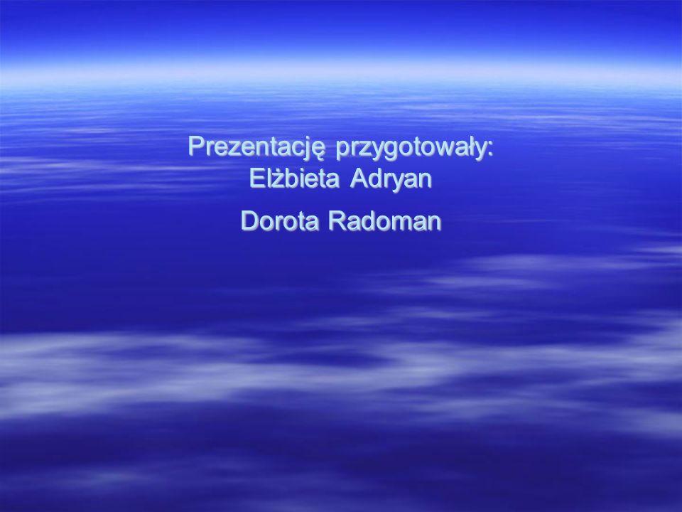Prezentację przygotowały: Elżbieta Adryan Dorota Radoman