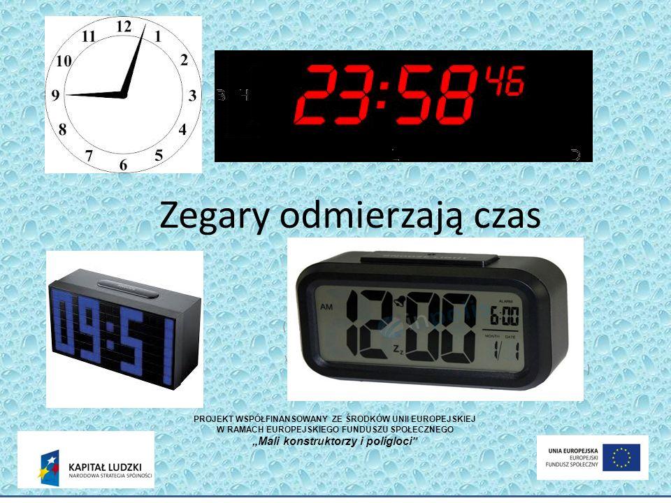 Zegary odmierzają czas (zdjęcie zegarka na rękę ze wskazówkami) (zdjęcie zegara cyfrowego z wyświetlaczem LED) (zdjęcie zegara cyfrowego z wyświetlacz