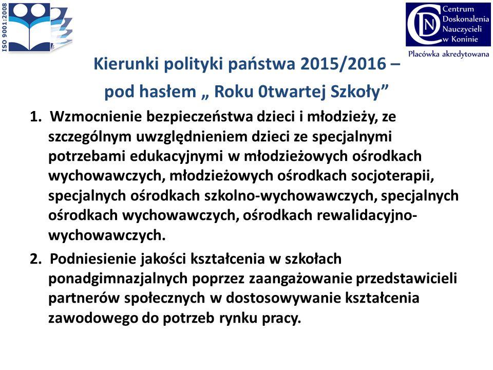 Kierunki polityki państwa, cd....3.