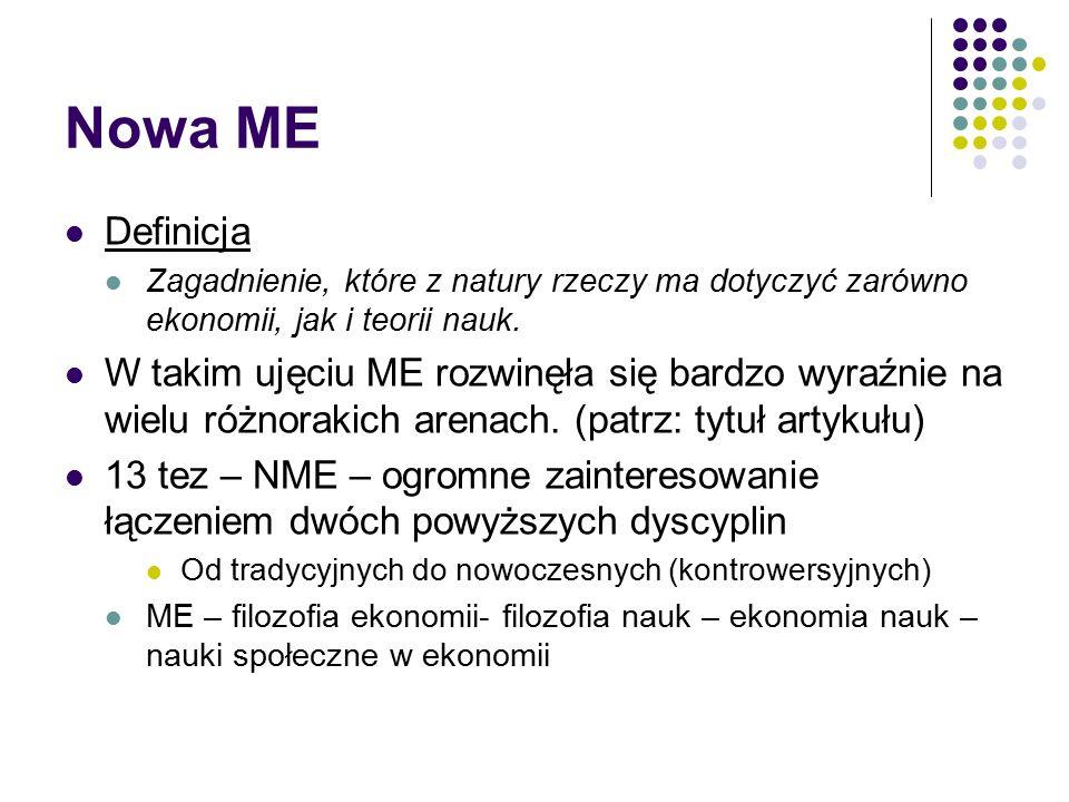 Nowa ME Definicja Zagadnienie, które z natury rzeczy ma dotyczyć zarówno ekonomii, jak i teorii nauk.