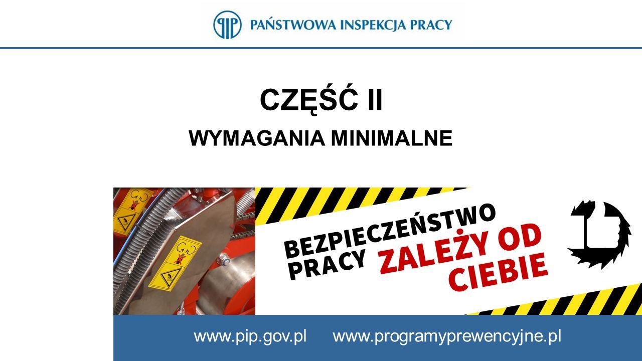 CZĘŚĆ II WYMAGANIA MINIMALNE www.pip.gov.pl www.programyprewencyjne.pl