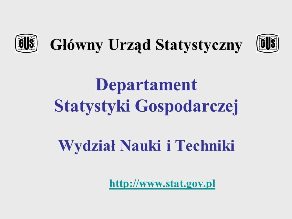 Dr Grażyna Niedbalska – naczelnik Wydziału Nauki i Techniki w Departamencie Statystyki Gospodarczej GUS, tzw.